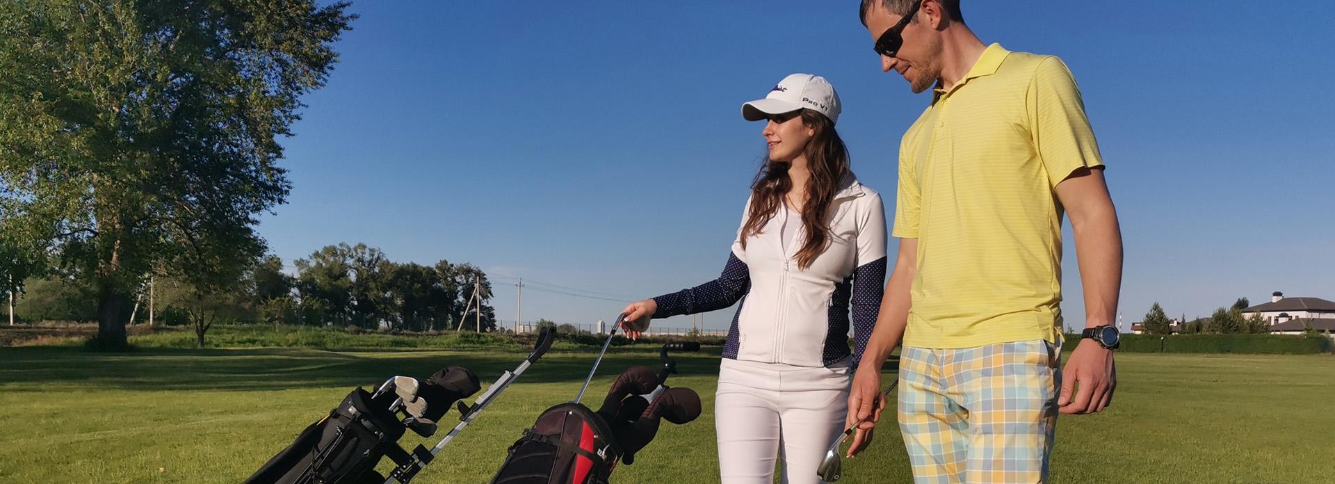 Тренировки в гольф-клубе